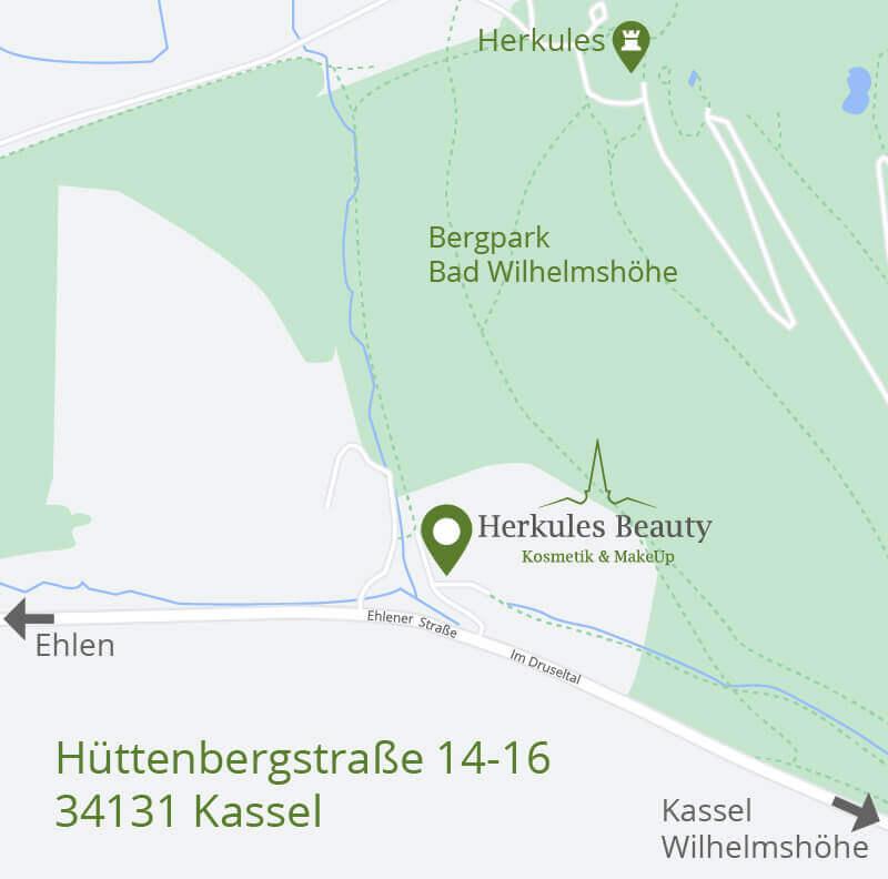 Kosmetik in Kassel Anfahrtsskizze
